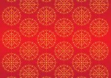 Claret ornamental background. Claret oriental background with yellow oriental ornament Royalty Free Stock Photography
