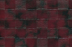 Claret red cowhide - Leather Stock Images