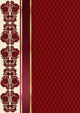 Claret valentine background with floral pattern and ribbon Royalty Free Stock Images