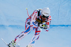 Clarey Johan στο αλπικό Παγκόσμιο Κύπελλο σκι Audi FIS - ατόμων προς τα κάτω Στοκ Εικόνες
