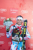 CLAREY Johan (FRA). VAL GARDENA, ITALY 21 December 2013: CLAREY Johan (FRA) takes 3rd place during the Audi FIS Alpine Ski World Cup Men's  DOWNHILL Royalty Free Stock Image