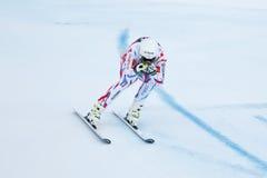 CLAREY Johan i FIS alpina Ski World Cup - 3rd MÄNS SUPER-G Arkivbilder