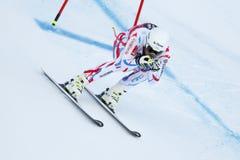 CLAREY Johan i FIS alpina Ski World Cup - 3rd MÄNS SUPER-G Royaltyfri Foto