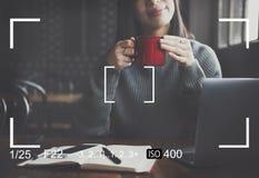 A claridade do concentrado do foco determina o conceito da inspiração imagem de stock royalty free