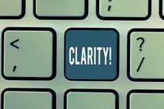 Claridade do texto da escrita da palavra Conceito do negócio para a qualidade de ser fácil de ver ou para ouvir a agudeza do som  fotos de stock royalty free