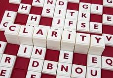 Claridade nas letras Imagem de Stock Royalty Free