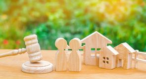Clarification of ownership of the house / real estate. court and division of property. concept of law and lawyer, judiciary and le. Gislature, notaries and royalty free stock photos