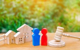 Clarification of ownership of the house / real estate. court and division of property. concept of law and lawyer, judiciary and le. Gislature, notaries and royalty free stock image