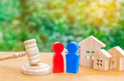 Clarification of ownership of the house / real estate. court and division of property. concept of law and lawyer, judiciary and le. Gislature, notaries and stock photography