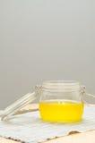 Clarified butter jar Royalty Free Stock Photos