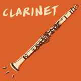 Clarinet vector Royalty Free Stock Images
