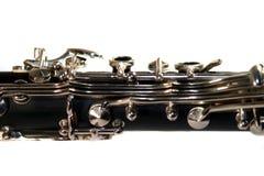 Clarinet. Classic Black B Clarinet on white background stock photography