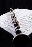 Clarinet alto. Musical background - instruments. Shot in studio Stock Photos