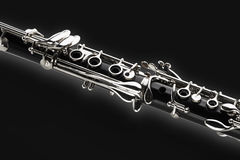 Clarinet. A Clarinet on black background Royalty Free Stock Photo