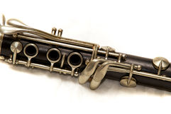 Clarinet body over white Royalty Free Stock Image