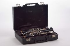 Clarinet in case Stock Image