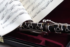 Clarinet Case Music stock image