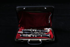 Clarinet in case royalty free stock image