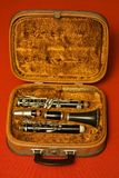 Clarinet caso que Fotos de Stock Royalty Free