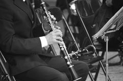 Clarinet. Clarin and music Stock Image