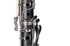 Clarinet Close Isolated  On White Stock Photo