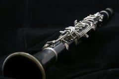 Clarinet en negro Foto de archivo