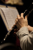 Clarinet in the hands of a musician Royalty Free Stock Photo