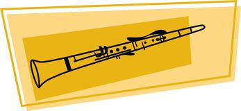 Clarinet icon Stock Photo
