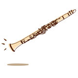 Clarinet vector Stock Photography