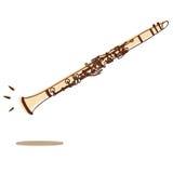 Clarinet vector stock illustration