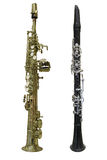Clarinet. The image of a clarinet isolated under the white background Stock Images