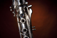 Clarinet Isolated Gold Spotlight Stock Photography