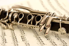 Clarinet and Music Royalty Free Stock Photo