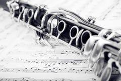 Clarinet on music Stock Image