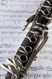 Clarinet and notes Stock Photography