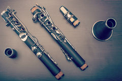 Clarinet parts Stock Image