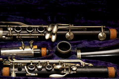 Clarinet parts up close Stock Images