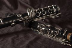 Clarinet pieces Royalty Free Stock Photo