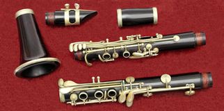 Clarinet pieces Royalty Free Stock Photos