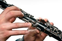 Clarinet player Royalty Free Stock Photo
