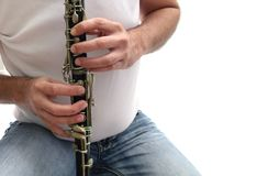 Clarinet player Stock Photos