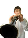 Clarinet player Royalty Free Stock Photo