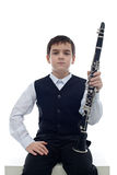 Clarinet player Royalty Free Stock Photos