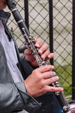 Clarinet player Stock Image