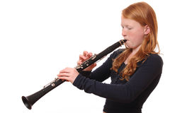 Clarinet player Royalty Free Stock Images