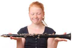 Clarinet player Royalty Free Stock Photography