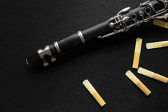 Clarinet and Reed Royalty Free Stock Photos