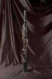Clarinet sul nero fotografia stock
