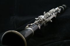 Clarinet sur le noir Photo stock