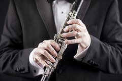 Clarinet and tuxedo Stock Photography